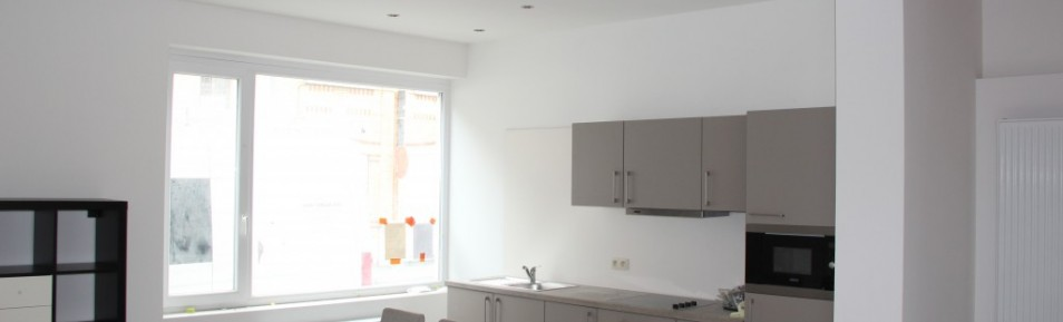 Modern licht, Volledig nieuw bemeubeld 2slpk appartement, Sint-Pietersstation met terras (Ref:61A)